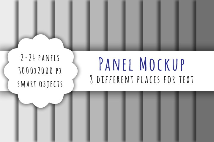 Panel mockup PSD for digital paper and backgrounds