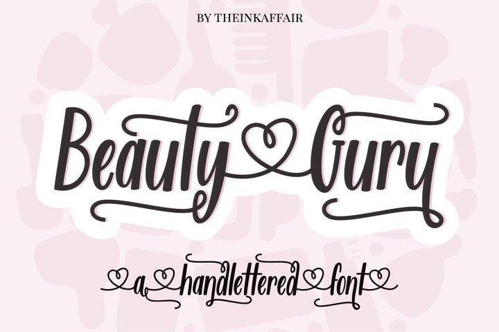 Beauty Guru, decorative script font