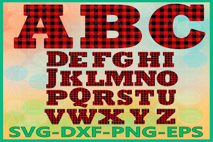 Alphabet Buffalo Plaid svg, Letters Plaid svg