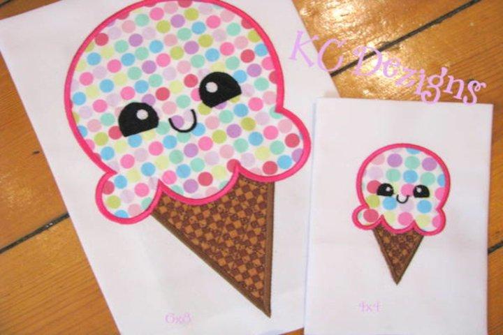 Cheat Day Ice Cream Machine Applique Embroidery Design