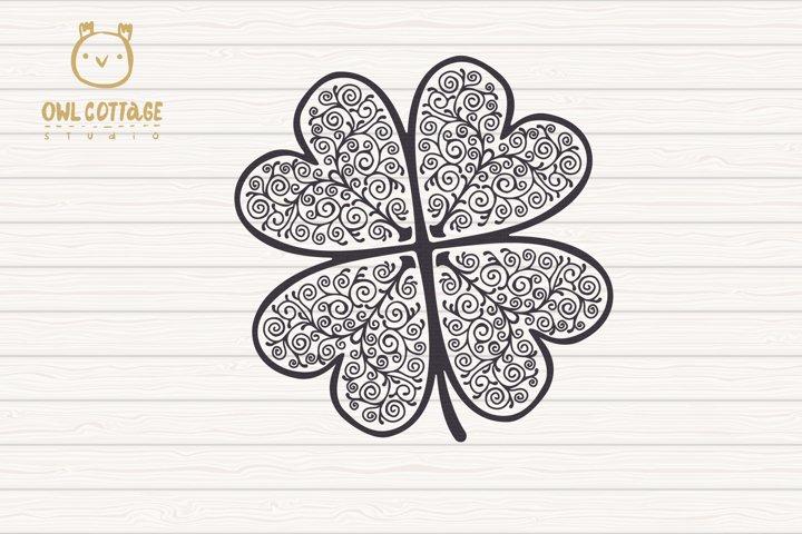 St. Patricks day svg, Clover Leaf, Clover Leaf Tattoo example 1