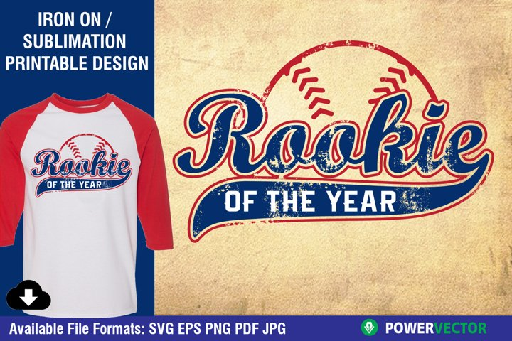 Rookie of the Year Distressed Printable Design