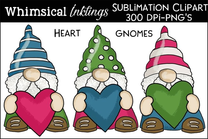 Heart Gnomes Sublimation Clipart