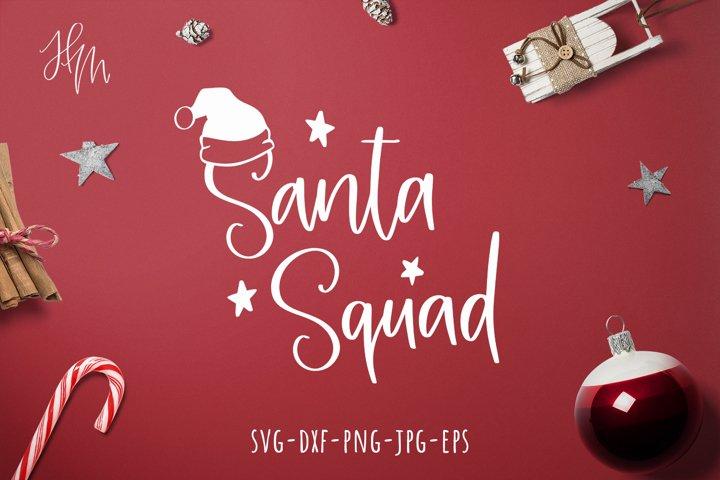Santa squad cut file SVG DXF EPS PNG JPG