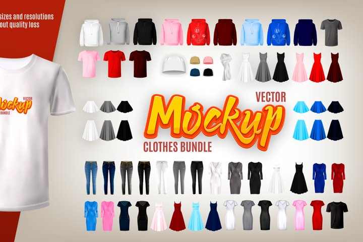 Vector clothes Mockup bundle