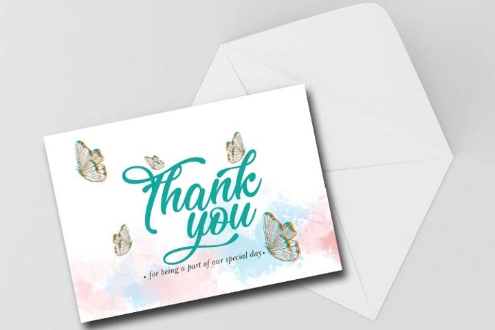 Thank you card, Digital Download, Print Card