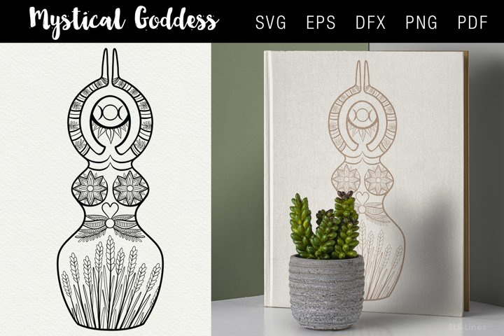 Mystical Goddess Illustration SVG EPS PNG