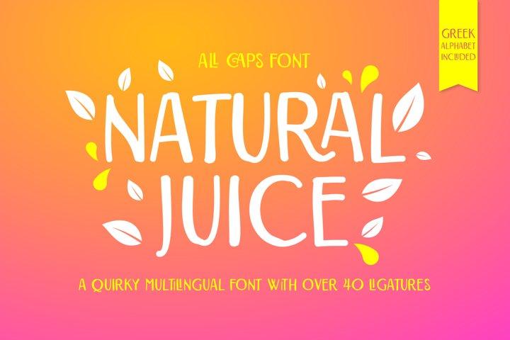 Natural Juice All Caps Font