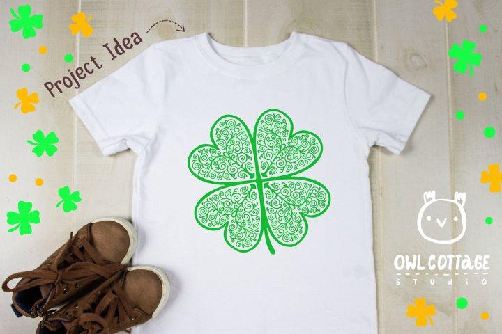 St. Patricks day svg, Clover Leaf, Clover Leaf Tattoo example 5