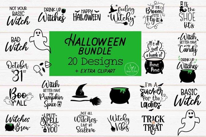 Halloween Bundle 20 Halloween Svg plus Clipart