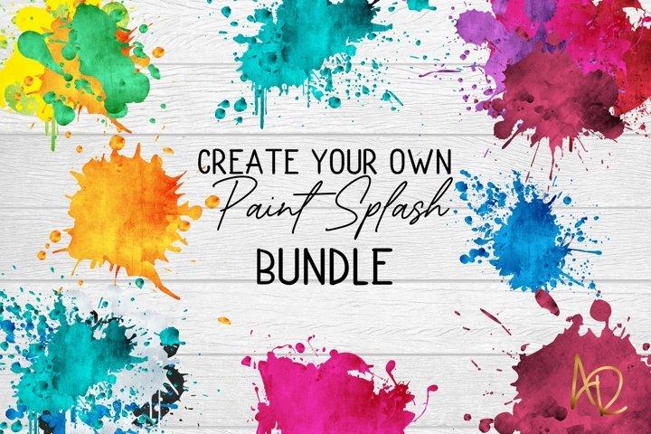 Sublimation Background Colour/Paint Splashes PNG bundle