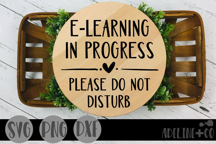 E-learning in progress, Do not disturb, SVG, PNG, DXF