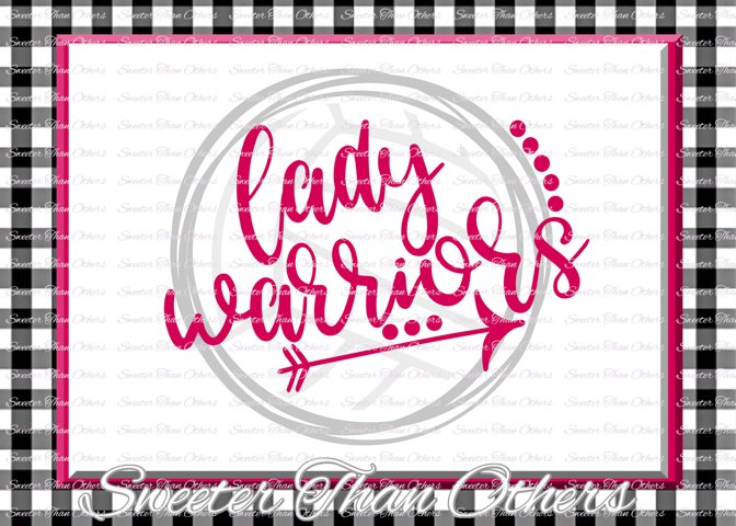 Volleyball svg, Lady Warriors svg, Warriors Volleyball svg