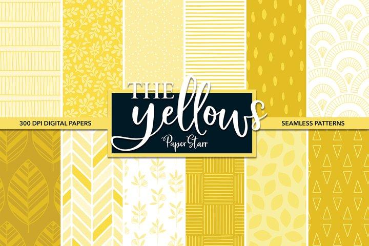 SEAMLESS Yellow Digital Paper Set