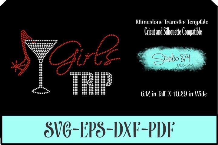 Girls Trip Rhinestone SVG Transfer Template R5
