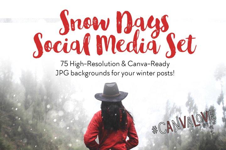 Snow Days Social Media Set