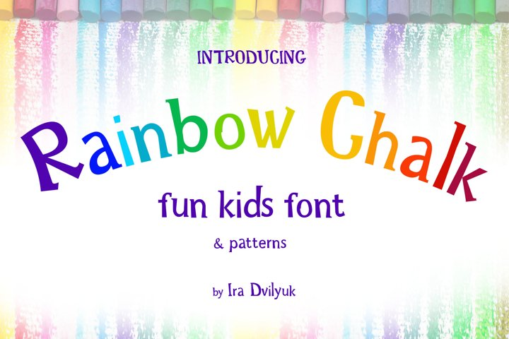 Rainbow Chalk fun kids font