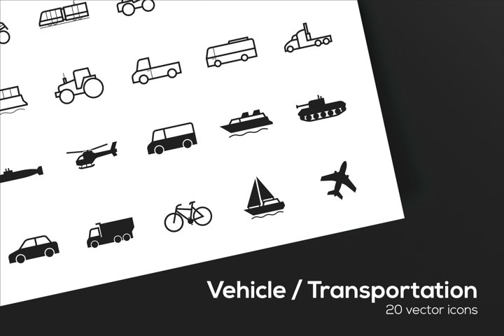 Vehicle / Transportation Icons Set