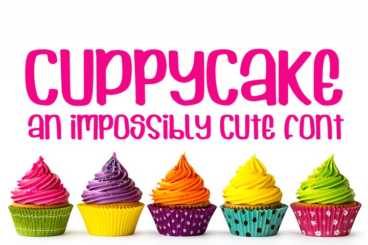 Cuppycake - an impossibly cute font - Free Font of The Week Design11