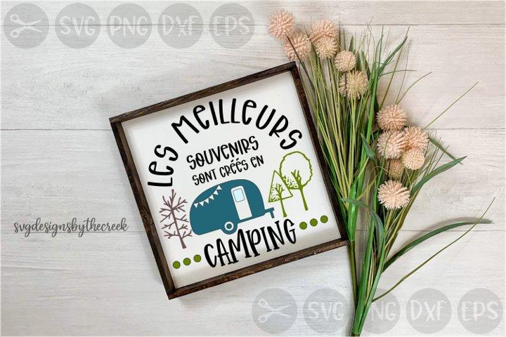 Meilleurs Souvenirs, Camping, French, Cut File, PNG, SVG