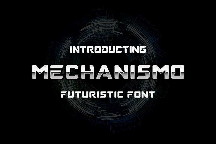 Mechanismo - a Techno Display Font