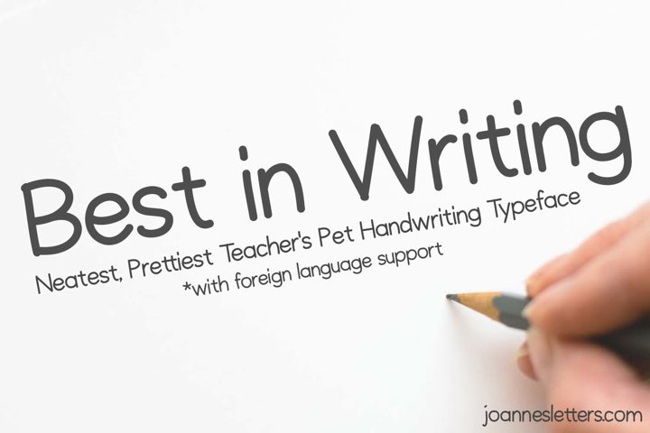 Best in Writing Neatest Prettiest Teachers Pet Handwriting