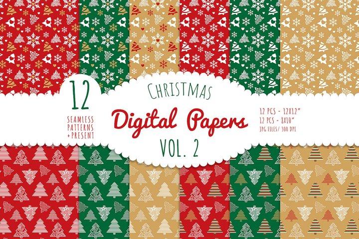 Christmas Digital Paper - Vol. 2