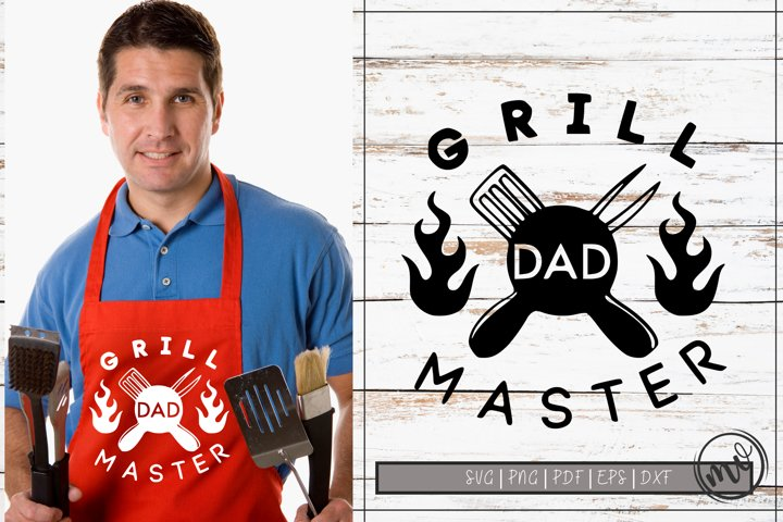 Grill Master DAD SVG Cut File|Fathers Day SVG