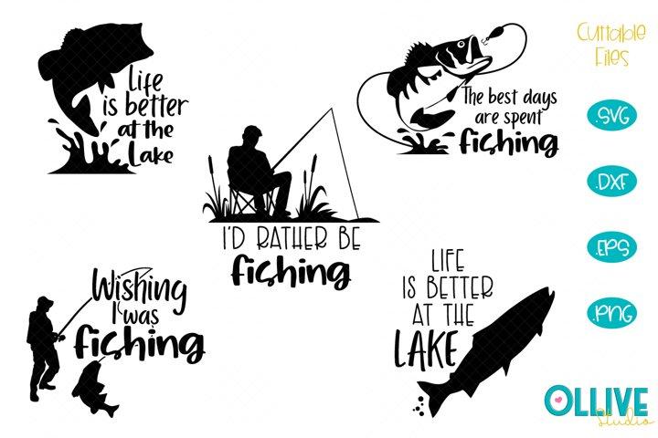 Fishing SVG Designs Bundle