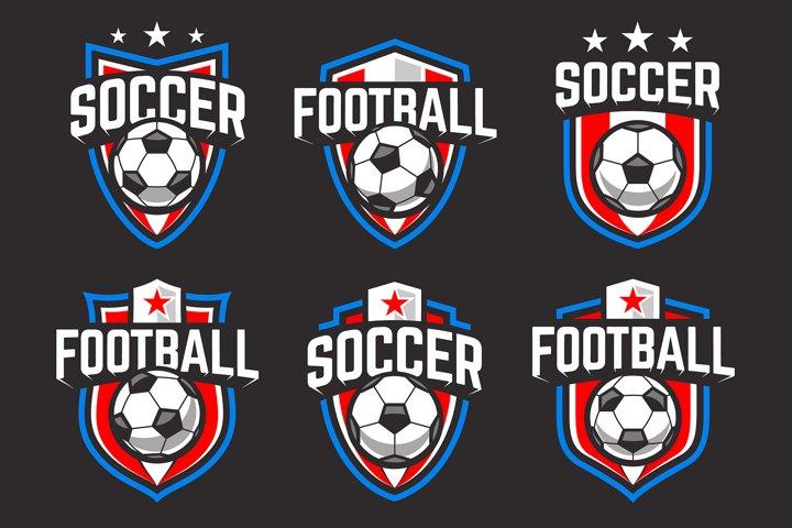 Soccer Emblems Vector Set