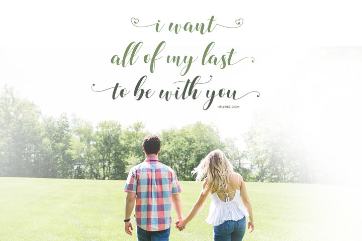 Loveya Script (Font Duo + Extras) example 2