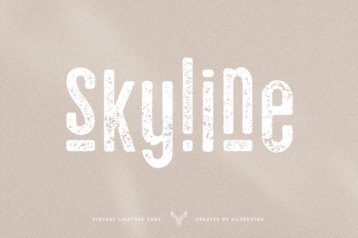 skyline - vintage ligature sans font