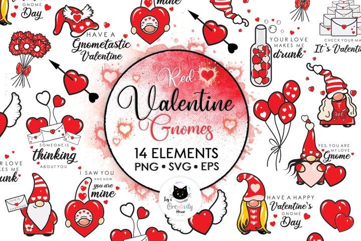 Valentine Svg, Gnome Svg, Valentine Gnomes Svg, Svg Bundle