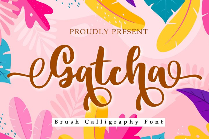 Gatcha | A Natural Brush Calligraphy Font