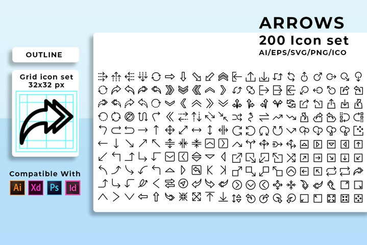 600 icon Arrows in 3 style