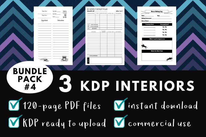 KDP Interior Pack #4 - 3 Templates!