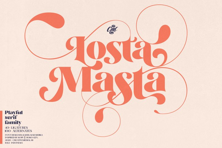 Losta Masta - Playful serif family