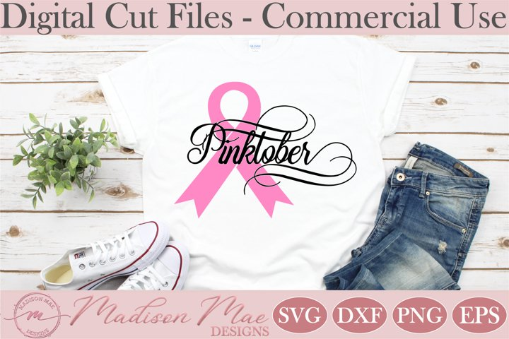 Breast Cancer Ribbon SVG, Pinktober