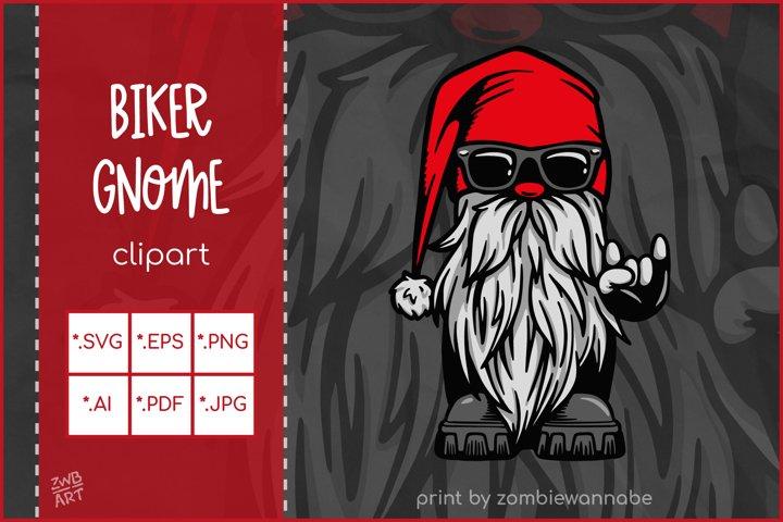 Gnome SVG, Cool Biker Gnome, Christmas Gnome SVG Cut File