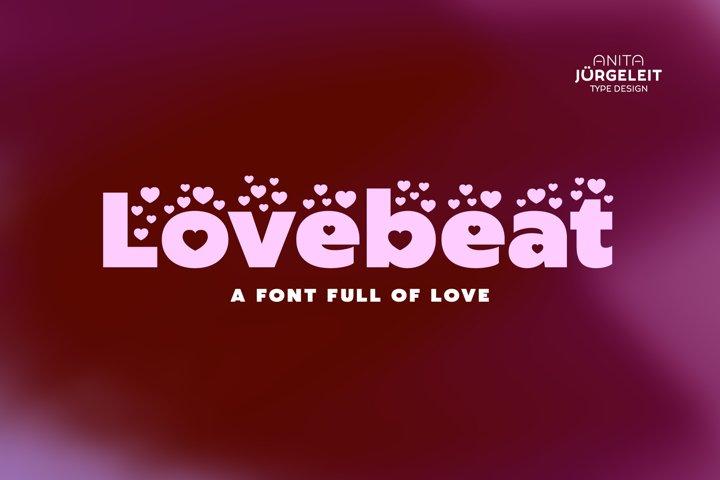 Lovebeat - Valentines Day Love Font