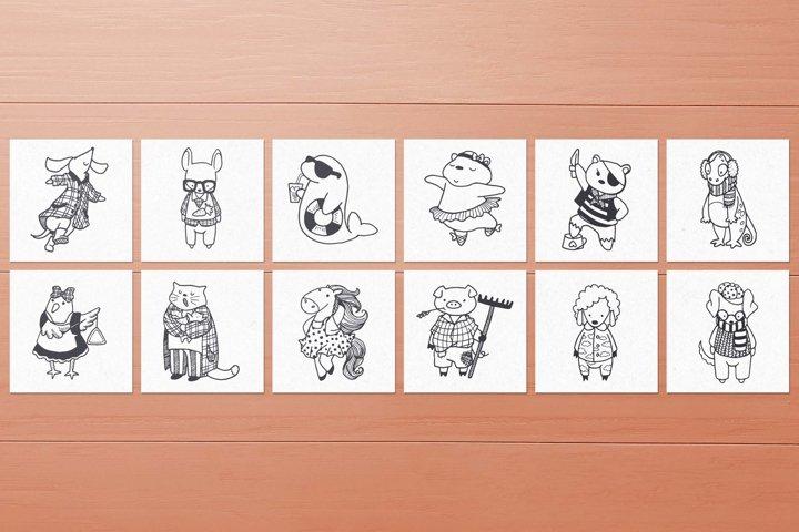 100 Hand Drawn Elements -Animals- example 5