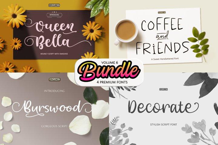 Epic Bundle Vol 6   4 Premium Fonts