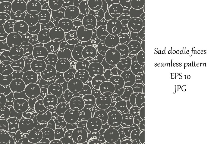 A collection of doodle faces negative emotions