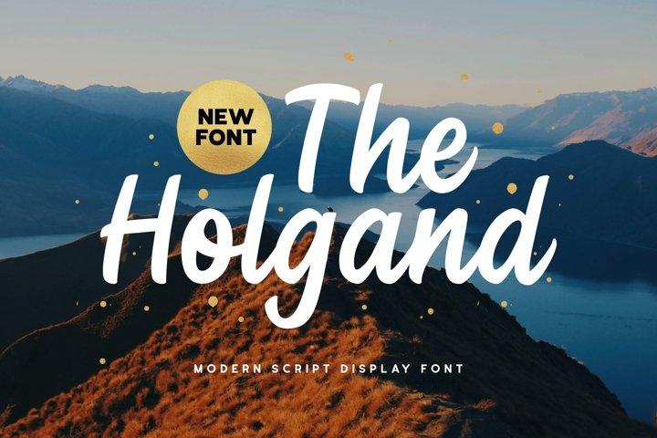 Holgand - Script Display Font