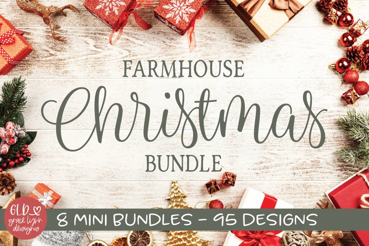 Farmhouse Christmas Bundle - 95 Christmas Designs