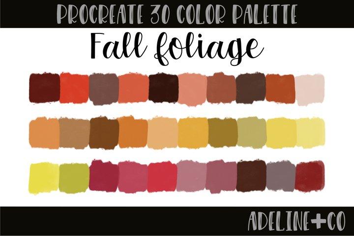 Fall Foliage Procreate color palette