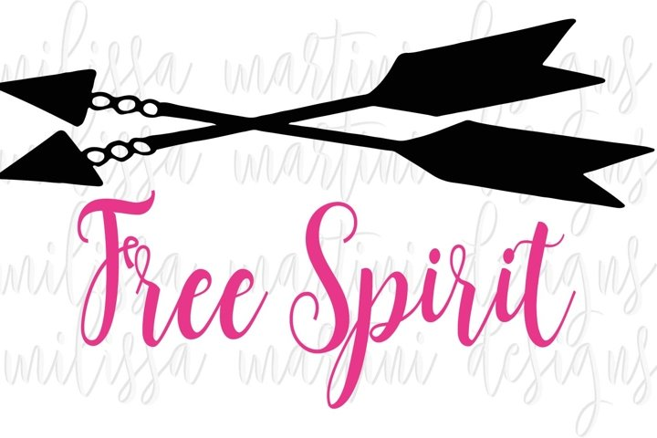 Free Spirit SVG Cut File example 7