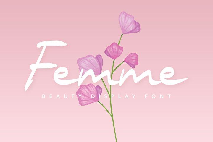 Femme Beauty Display Font