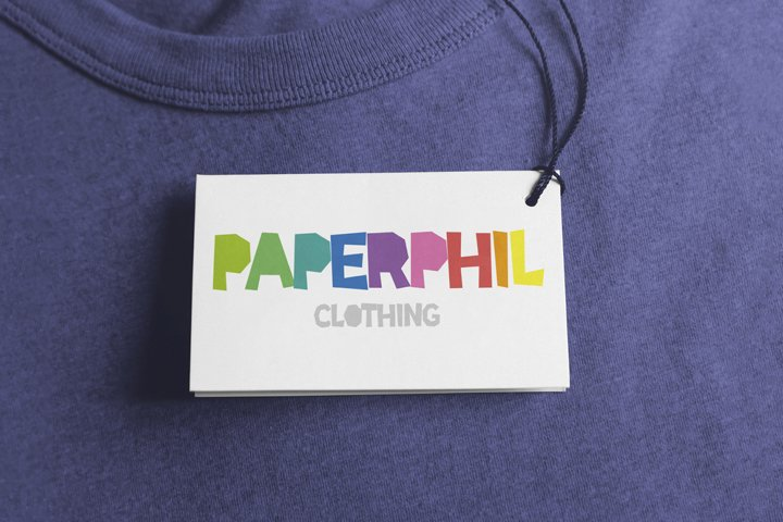 Paper Phil - a papercut craft style font example 3