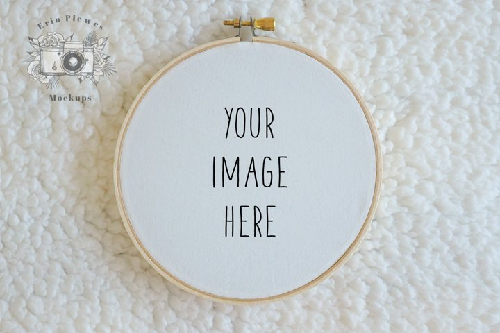 Embroidery Hoop Mockup  Cross Stitch Mock Up  Sewing Mock-up